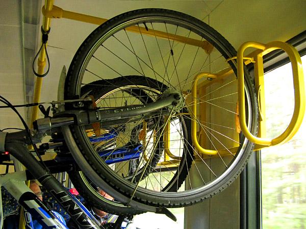Bikes on Riga - Jurmala train