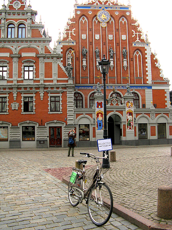 Riga Bicycle Tours starting at the Blackheads House