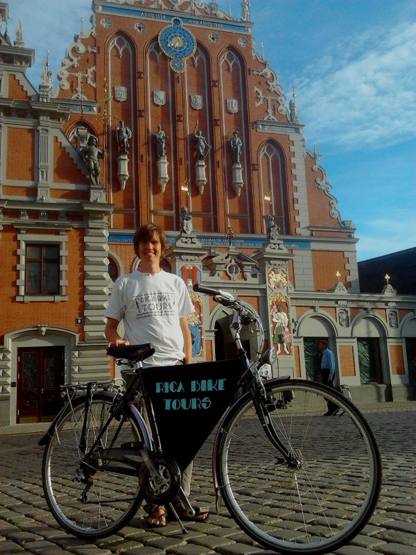 Marcus with a Riga Bike Tours bicycle