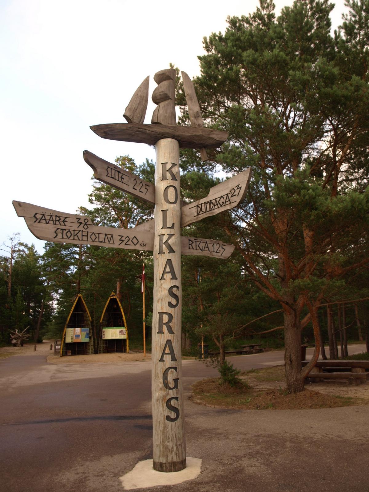 Quiz About Latvia Latvia Kolka Signpost