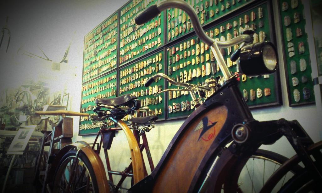 An old bike in Saulkrasti Bicycle Museum
